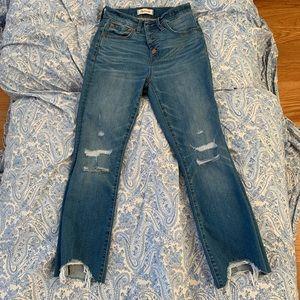 Cali Demi-Boot Jeans: Chewed-Hem Edition